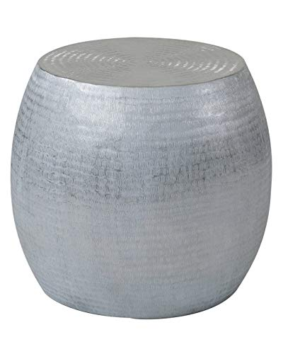 the best attitude 5bb02 46a1f Amazon.com: Hand Crafted Aluminum End Table - Drum Side End ...