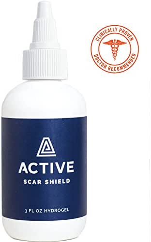 Scar Shield Scar Gel - Help Stop Scars BEFORE They Form. Doctor Recommended, Natural and Non-Toxic Scar Gel (3oz - For Use During The Healing Process BEFORE Scars Develop)