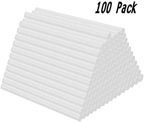 Joykey 100 Pcs bâtons de colle Bâtons de pistolet à colle thermofusible 7x100 mm bâtons de colle de rechange,transparent
