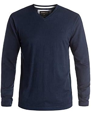 Men's Everyday Kelvin V-Neck Sweater and HDO Travel Sunscreen (15 SPF) Spray Bundle