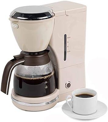 DeLonghi ICMOV - Cafetera de goteo, 1000 W, color blanco: Amazon ...