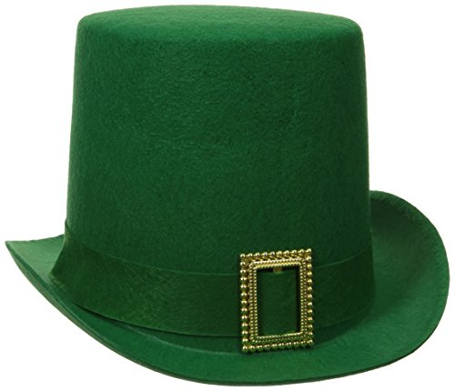 Forum Novelties St. Patrick's Day Costume Top Hat, Green Felt, One (Green Top Hats)