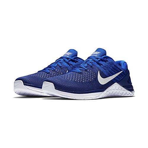Nike Men's Metcon DSX Flyknit Training Shoe Deep Royal Blue/White-Racer Blue 10.5 D (M) US