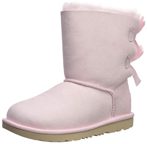 UGG Girls' K Bailey Bow II Fashion Boot, Seashell Pink, 13 M US Little Kid]()