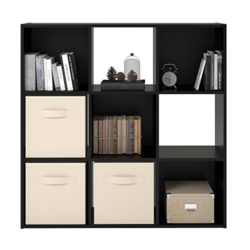 - Ameriwood Basics Collection Nightfall Oak Alexander 9 Cube Bookcase, Optimal Easy to Access Storage Cubbies, Made from Laminated Particleboard with Nightfall Oak