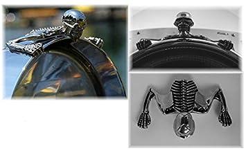 Adorno de calavera para faro de moto Highway Hawk modelo pequeño