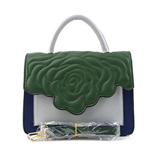 Nuevo Bolso De Cuero Ocasional De La PU De La Moda 2018 Fiesta De Viaje Messenger Lady Handbag Green