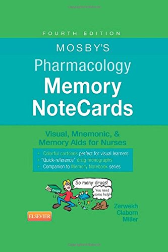 Mosbys Pharmacology Memory Notecards Visual Mnemonic And Memory Aids For Nurses 4e