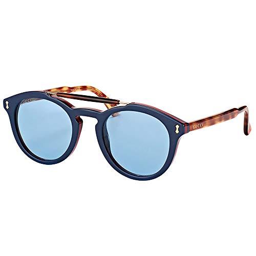 Gucci sunglasses GG 0124 S- 003 BLUE / AVANA (Gucci Glasses Gg F)