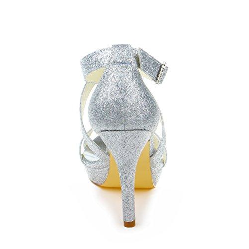 femme JIA mariage 37059 pour chaussures mariée Escarpins JIA Wedding Argent de zxqWFHBwfw