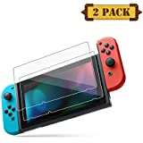 Pasnity Screen Protector for Nintendo Switch 2017 (2-Pack) Tempered Glass (clear)