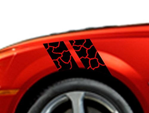 (Clausen's World ROCK Fender Hash Mark Bars Vinyl Racing Stripes Graphic Decals 4