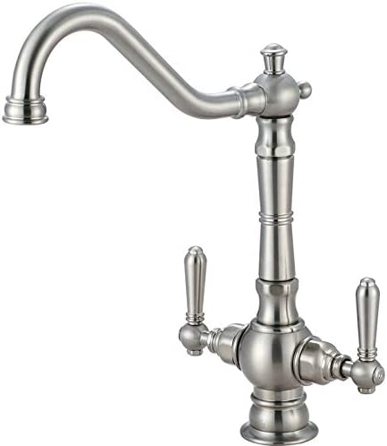 2AM400 Americana Double Handle Deck Mounted Kitchen Faucet – Brushed Nickel
