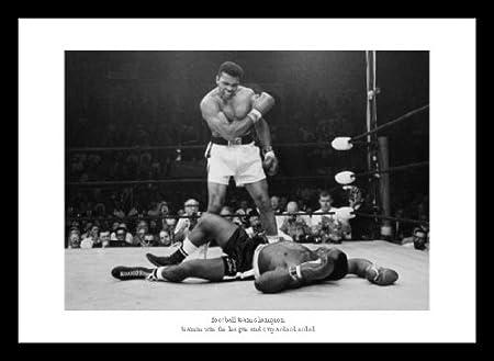 Muhammad Ali v Sonny Liston \'Greatest Sporting Photo\' Framed Boxing ...