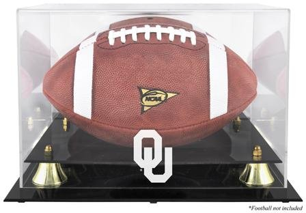Mounted Memories Oklahoma Sooners Logo Golden Classic Football Display Case