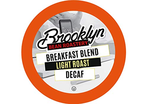 Brooklyn Beans Breakfast Blend Decaf Coffee Pods, Compatible with 2.0 K-Cup Brewers, 40 Count ()