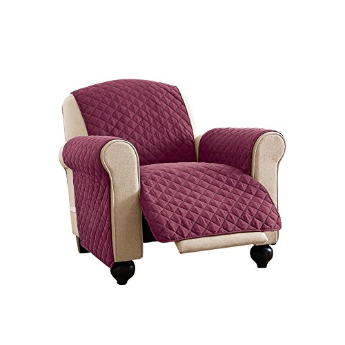 Reversible Furniture Protector Burgundy Recliner