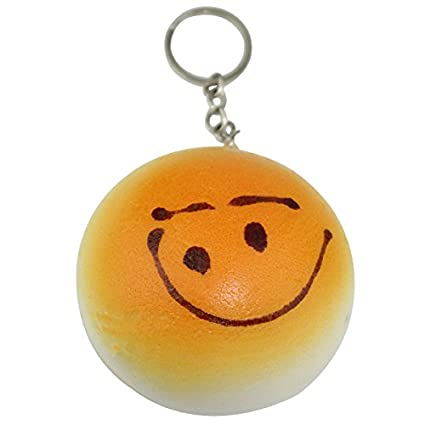 Gran Squishy Emoji de cara sonriente suave Bun cara llavero ...