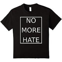 Kids NO MORE HATE Anti-Bullying Peace Love No More War T-Shirt 4 Black