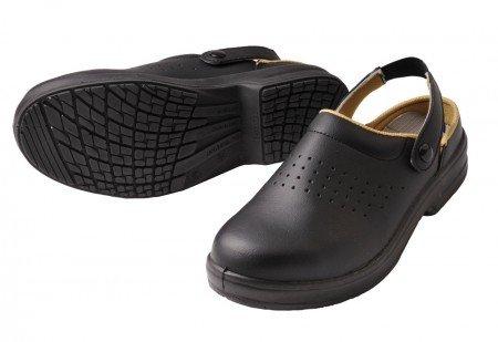 ESD Zueco, Abeba Zapatos Negro sin capuchón SRC