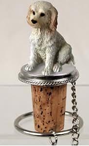 Cream Labradoodle Dog Wine Bottle Stopper