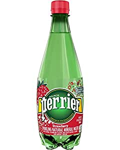 Perrier Sparkling Natural Mineral Water, Strawberry, 16.9 Ounce (Pack of 24)