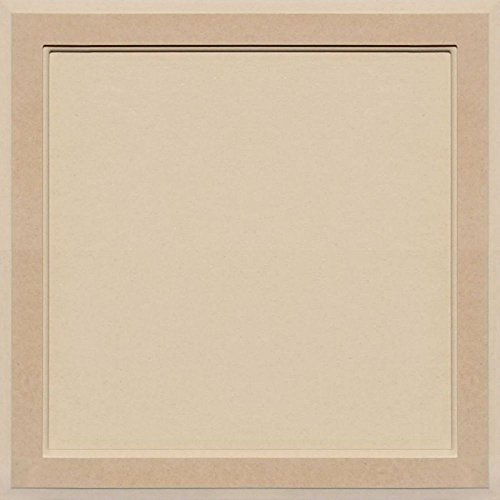 Flat Panel Cabinet Doors - Unfinished MDF Square Flat Panel Cabinet Door by Kendor, 22H x 22W