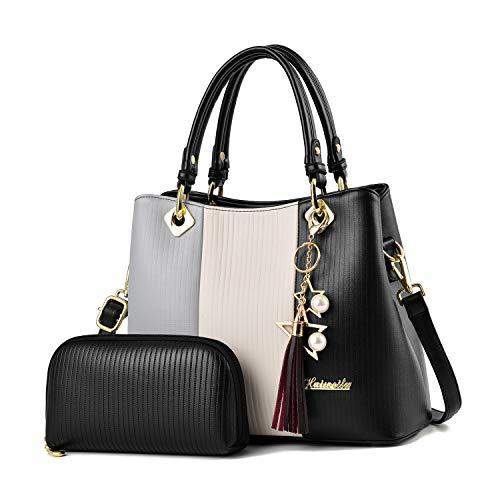 Women Handbags and Purses Fashion Ladies Top handle satchel Shoulder Bag Pu Leather Tote Bags