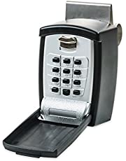 KeyGuard Key Safe Pro SL-591 Car Window Punch Button Lock Box, Black