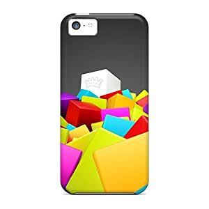 Cute High Quality Iphone 5c 3d Colorful Squares Case