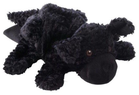 "Sven Costume For Dog (Black Dog Puppy Full Body Hand Puppet 10"" Plush Toy)"