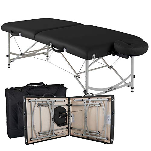 STRONGLITE Portable Massage Table Package VERSALITE - Professional, Lightweight Aluminum, Incl. Deluxe Adjustable Headrest & FacePillow