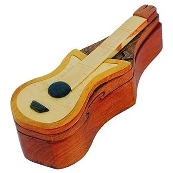Caja secreta de madera joya joyeria para baratijas intarsia hecha ...