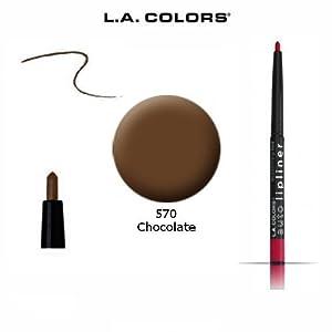 3-Pack L.A. Colors Auto Lip Liner Pencil Retractable 570 Chocolate