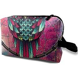 Storage Bag Travel Pouch Dream Catch Owl Purse Organizer Power Bank Data Wire Cosmetic Stationery Holder