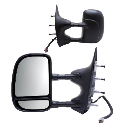 - Fit System 61203-04F Ford Econoline Driver/Passenger Side Power Extendable Towing Mirror - Pair