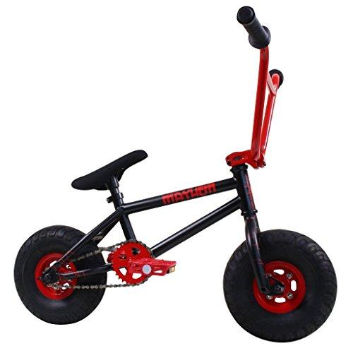 Mayhem Fat Tire Riot Crank Mini BMX Newest Model Trick Bike, Black/Red