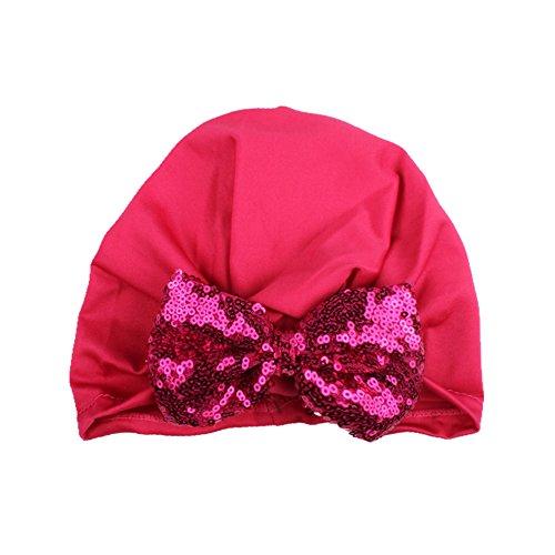 Bowknot Cap Élégant Paillettes Bébé 5 Mignon Colors Style Design Tricot Réglable Mixed Bohème LanLan W0Sn6vxv