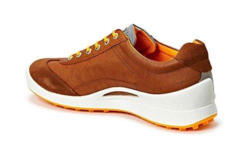ECCO Men's Biom Hybrid Golf Shoe Camel/Fanta 131764 58470 (42 M EU/8-8.5 D(M) US) (Golf Camel Shoe)