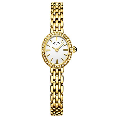 - Rotary LB05051-02 Ladies Cocktail Gold Plated Bracelet Watch