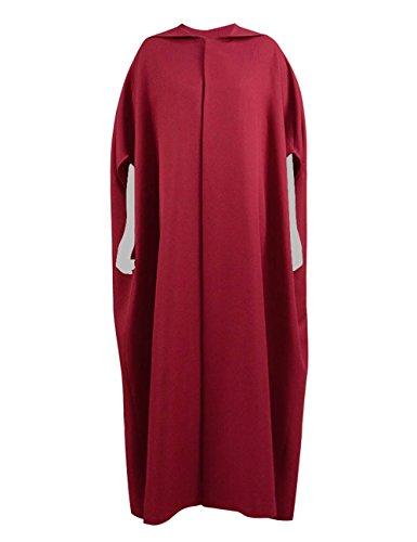 Handmaid Cape Halloween Cosplay Costume Red Cloak for Women (Women-XL, Deep Red)