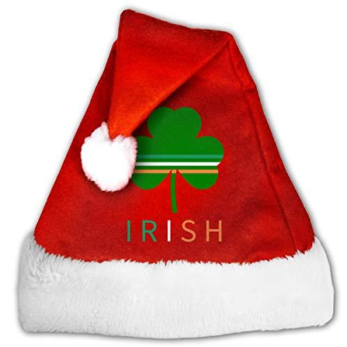 Unisex Christmas Hat Irish Clover Santa Hat