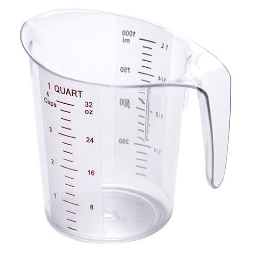 Value Series MEA-100PC Polycarbonate Measuring Pitcher - 1 Quart Capacity