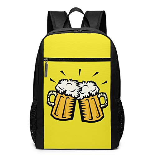 Beer Cheers Laptop Computer Backpack Business Stylish Casual Travel Bags 17 Inch