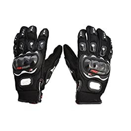 Benjoy Pro Biker Bike Riding Full Gloves (Size M,Colour Black) for Hero Splendor