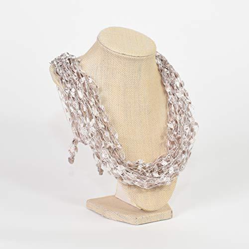 CROCHETLACES Adjustable Soft LIGHTWEIGHT Crochet Yarn Necklace Scarf- Enchanted ()