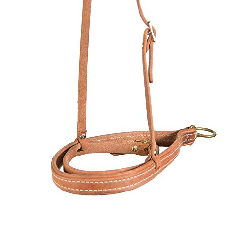 Teskey's Harness Leather Noseband Cavesson (Light Oil) ()