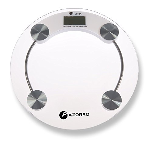 Precision Digital Bath Scale (396 Lbs Edition) - By Azorro - High Accuracy Premium Body Weight Scale by Azorro