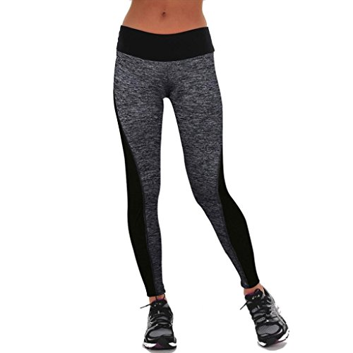 Gillberry Women Sports Trousers Athletic Gym Workout Fitness Yoga Leggings Pants (XXL, Gray)