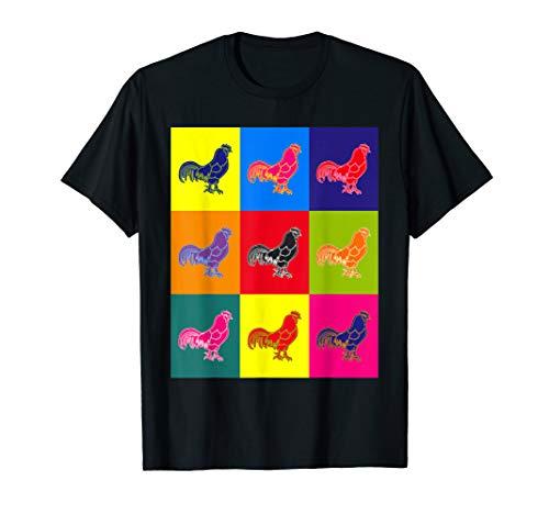 Cool n A Little Weird Retro Pop Art Barnyard Rooster T-Shirt